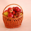 Fresh apples in basket — Stock Photo #1659615