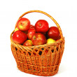 Fresh apples in basket — Stock Photo #1659717