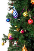 Christmas Tree isolated on white — Stock Photo