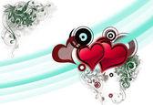 Valentine's hearts background — Stock Photo