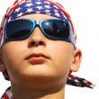 Cool boy with dark sunglasses — Stock Photo