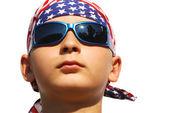 Cool boy with dark sunglasses — Stock Photo