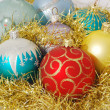 Stock Photo: Christmas decorated color balls