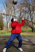 Teenager outdoor sport — Stock Photo