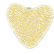 Royalty-Free Stock Photo: Golden pearl heart abstract background