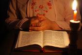 Praying child — Stock Photo