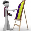 Painter at work — Stock Photo