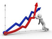 Não caias, economia — Fotografia Stock