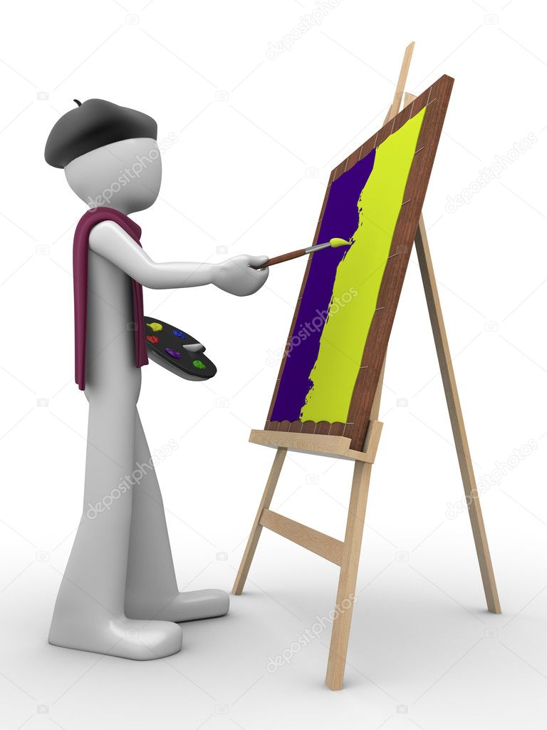Painter at work (men at work series) — Stock Photo #1872492
