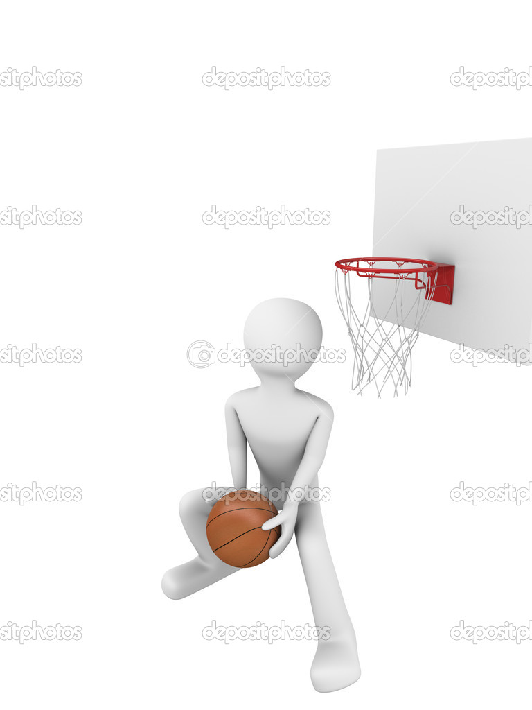 Basketball slamdunk 3 — Stock Photo #1874018