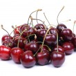 Stock Photo: Isolated sweet red cherry