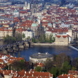View of historical center of Prague - Stock Photo
