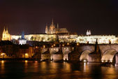 Prague night view — Stock Photo