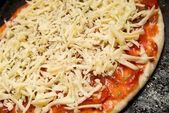 Uncooked pizza — Stock Photo