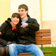 Two beloved on bench — Stock Photo #1596943