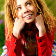 Royalty-Free Stock Photo: Portrait of girl with dreadlocks
