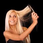 portrét krásné mladé ženy — Stock fotografie
