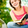 Girl reads book — Stock Photo #1597756