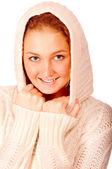 Çekici genç bir kadın portresi — Stok fotoğraf