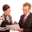 Portrait of boss and secretary — Stockfoto