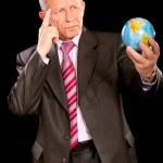 Portrait of elderly businessman — Stock Photo