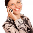 Girl with mobile phone - Stock Photo