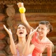 Two girlfriends on summer vacations - Stock Photo