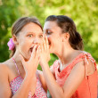 Two girlfriends on summer vacations — Stock Photo #1601257