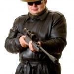 Man with gun — Stock Photo #1602368