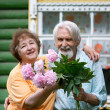 Two pensioners - Stock Photo