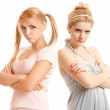 Offended girl-friends — Stock Photo