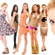 Eight girls - Stockfoto