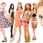 восемь девочек — Стоковое фото
