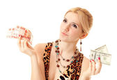 What to choose: roubles or dollars? — Stock Photo