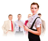 Team of successful managers — Stock Photo