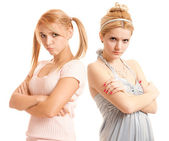 Offended girl-friends — Foto Stock