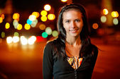 Portrait of nice dark-haired girl — Stock Photo