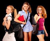 Portrait of three girl-friends — Stock Photo