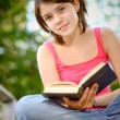 Girl reads book — Stock Photo #1610650
