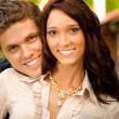 Portrait young women and men - Stockfoto