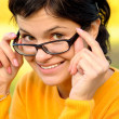 Portrait of girl in glasses — Stock Photo