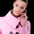 Stock Photo: Girl with cellular telephone