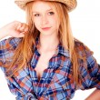 Portrait of young blonde — Stock Photo