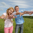 Youth spreads wings — Stock Photo