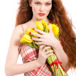 Portrait of redhaired woman — Stock Photo
