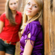 Stock Photo: Two beautiful girl-friends