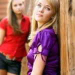 Two beautiful girl-friends — Stock Photo