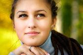 Beautiful girl with dreadlocks — Stock Photo