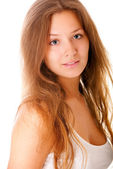 Portrait of charming young woman — Stock Photo