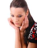 Portrait of sad brunette — Stock Photo